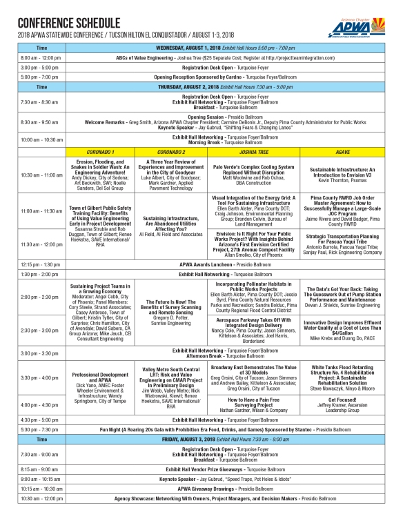 CONFERENCE SCHEDULE 7-27